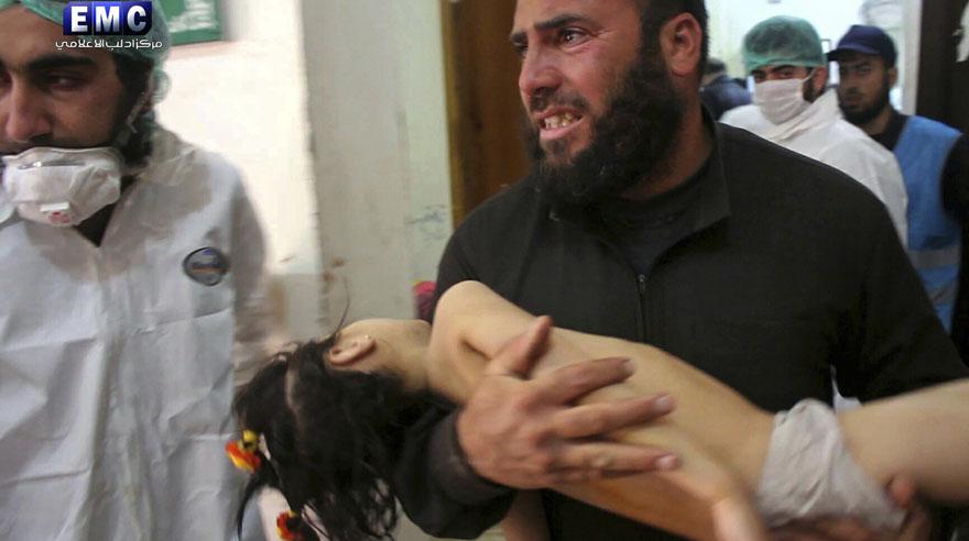 Decenas de muertos en inhumano ataque químico en Siria