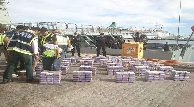 España interviene barco venezolano con 2,500 kilos de cocaína