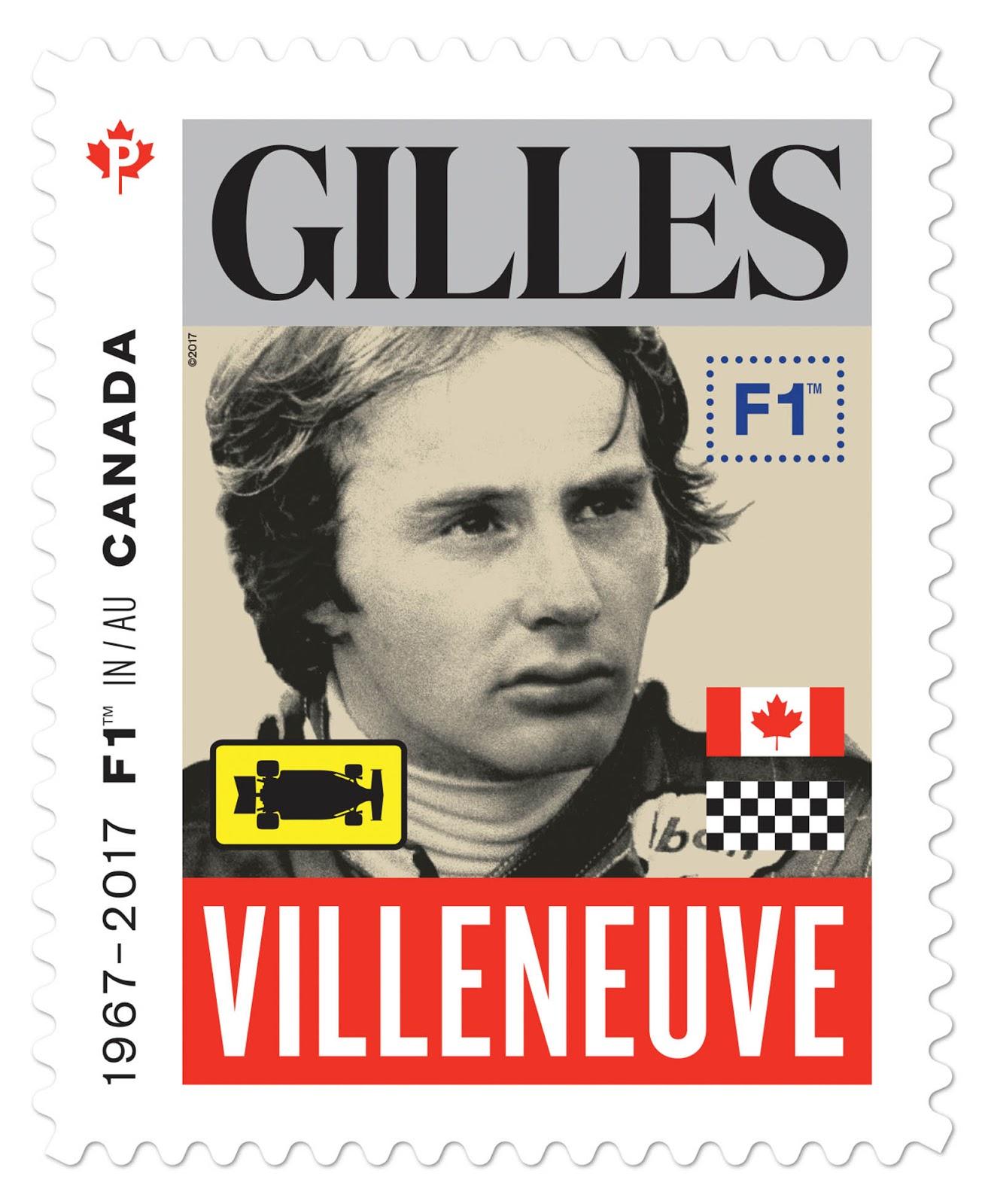 Canadá plasma a cinco pilotos de la F1 en sus sellos postales
