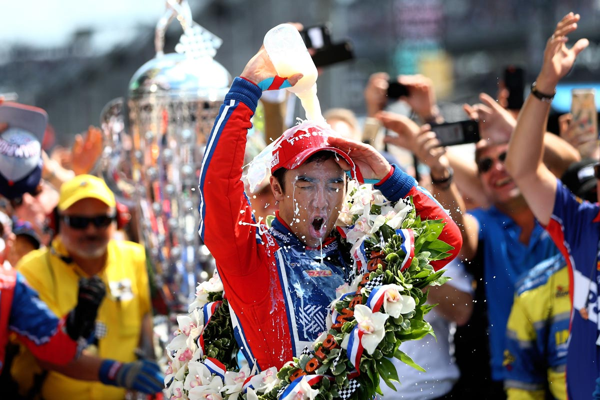 Takuma Sato se convirtió en el primer japonés que gana las 500 Millas de Indianápolis