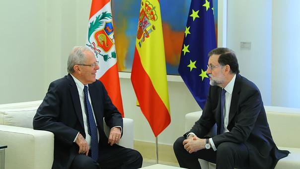 Kuczynski y Rajoy abogaron hoy profundizar inversiones mutuas y expresaron preocupación por grave situación en Venezuela