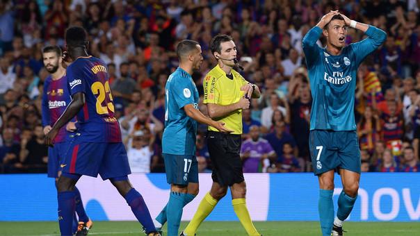 Cristiano Ronaldo sanciónado por haber empujado al árbitro
