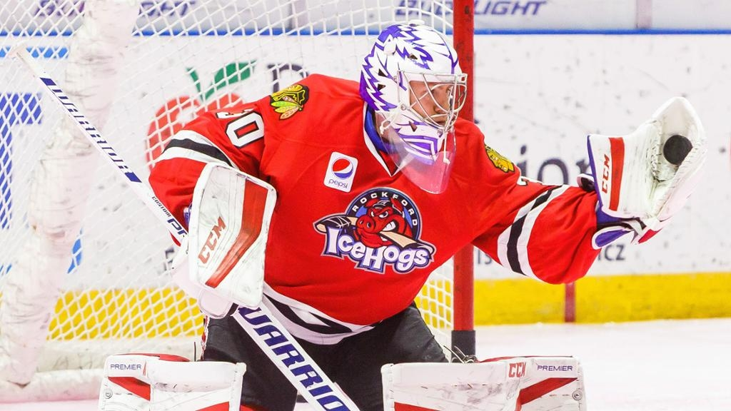 Former ICE goalie Glass signs with Blackhawks