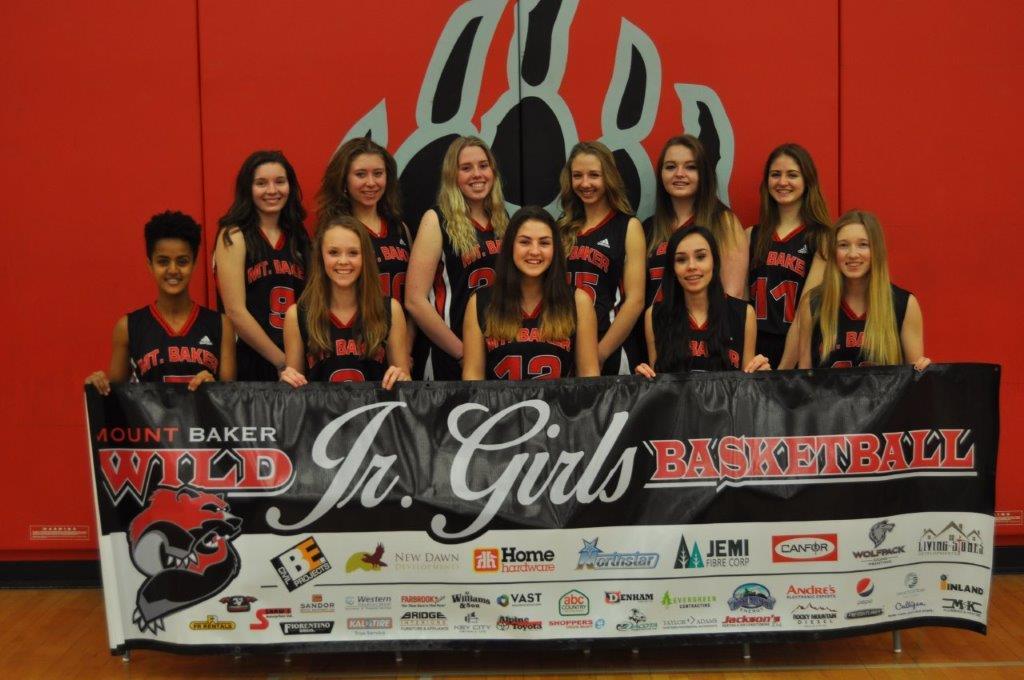 Mount Baker Junior Girls basketball tournament fundraising for provincials