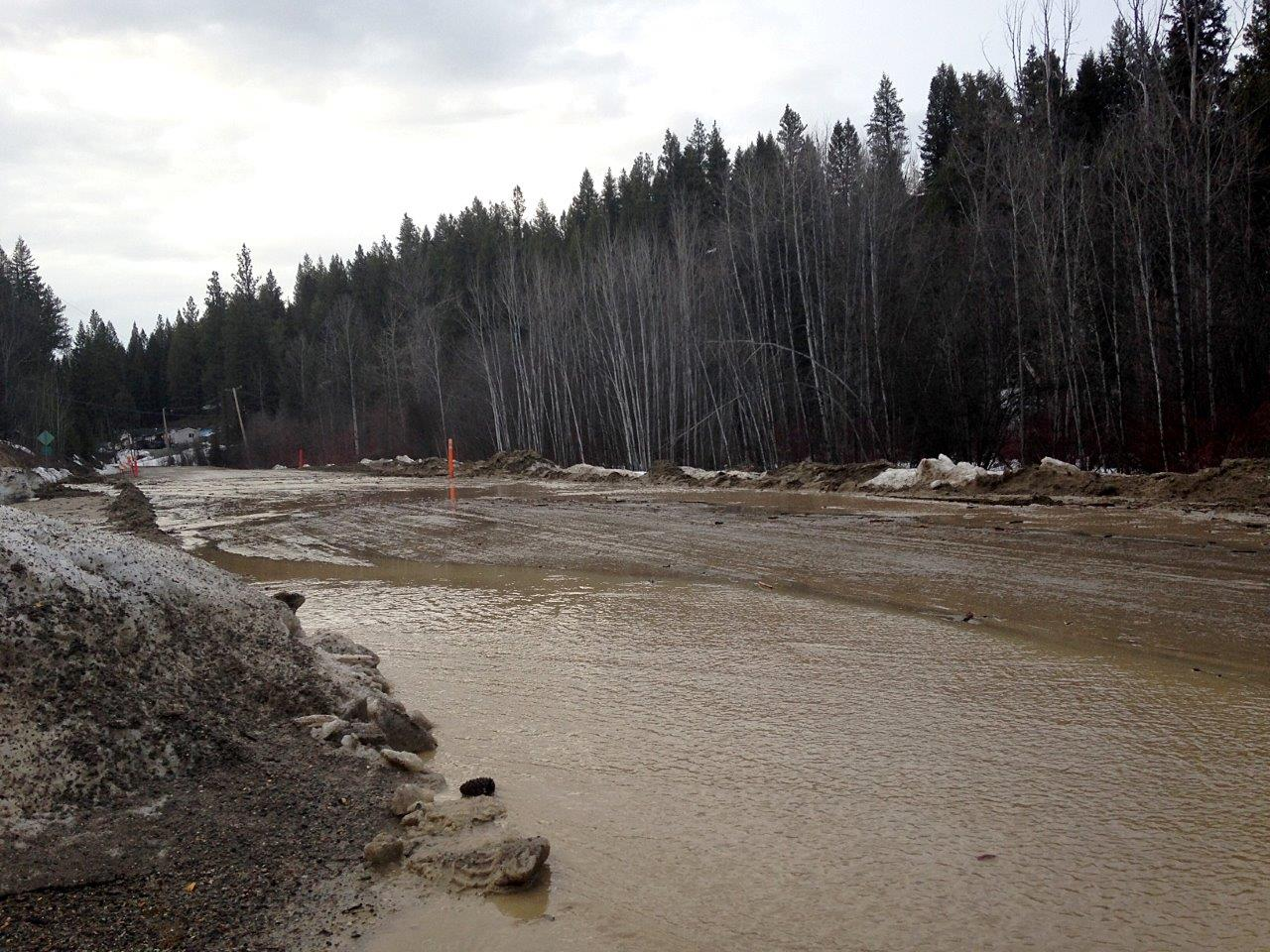 """Local traffic only"" as flooding covers roadway north of Cranbrook"