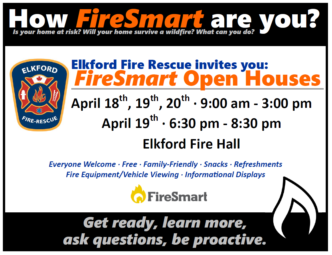 "Elkford Fire Rescue hosting ""FireSmart"" open houses"