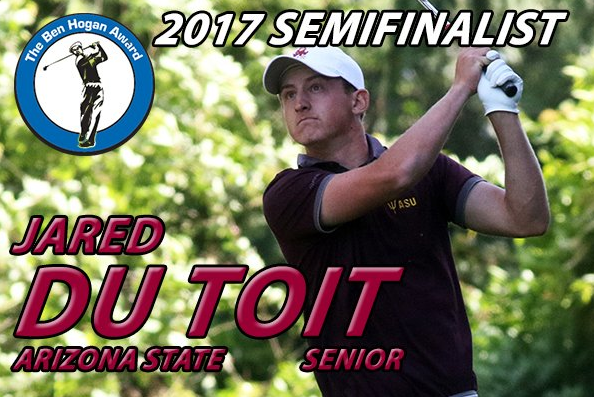 Kimberley's du Toit named semifinalist for Ben Hogan Award