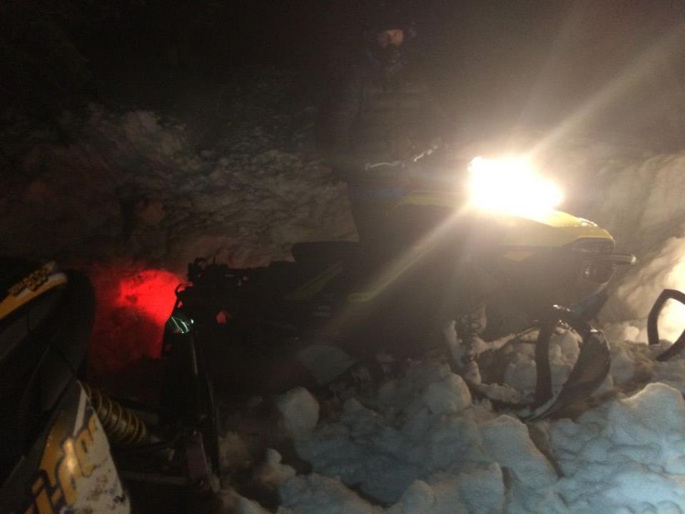 Kimberley SAR recover stranded snowmobiler on Bootleg Mt.