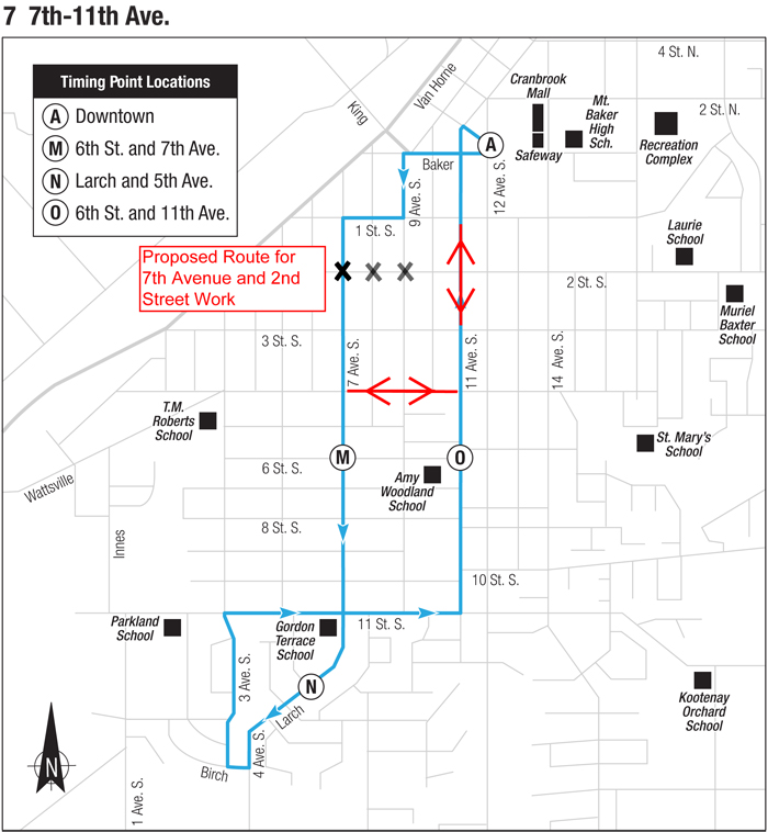Cranbrook's 7th Ave S/2nd St S intersection closed Monday