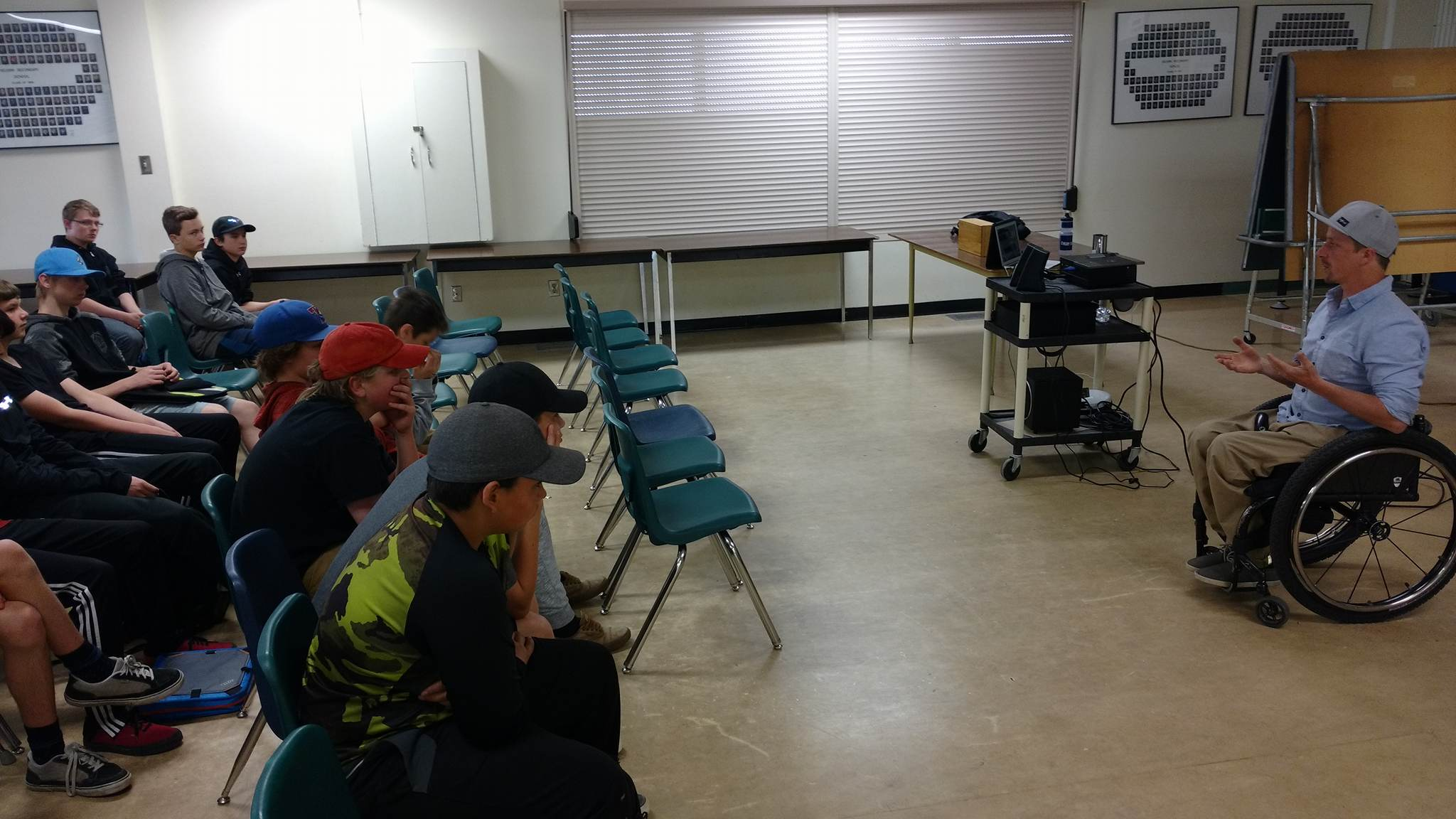 Kimberley Paralympian Josh Dueck talks work safety at local schools