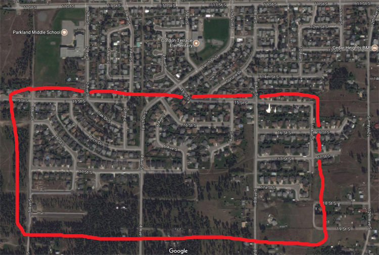 Cranbrook water main flushing moves south of Parkland School