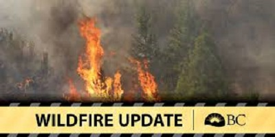 Wildfire east of Fairmont grows to 280 HA, closes FSR