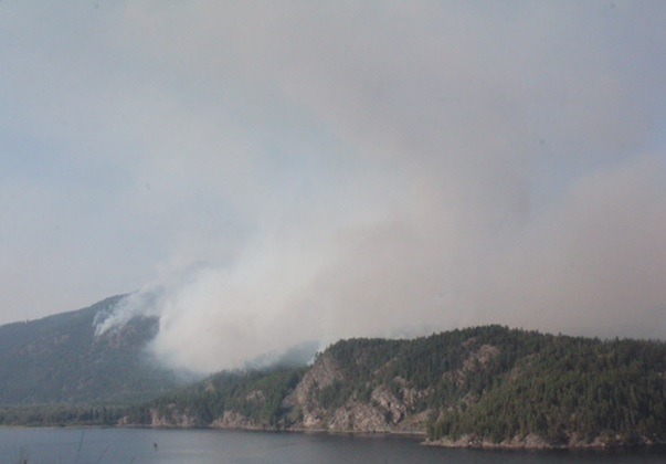Lamb Creek fire near Moyie now 50% contained