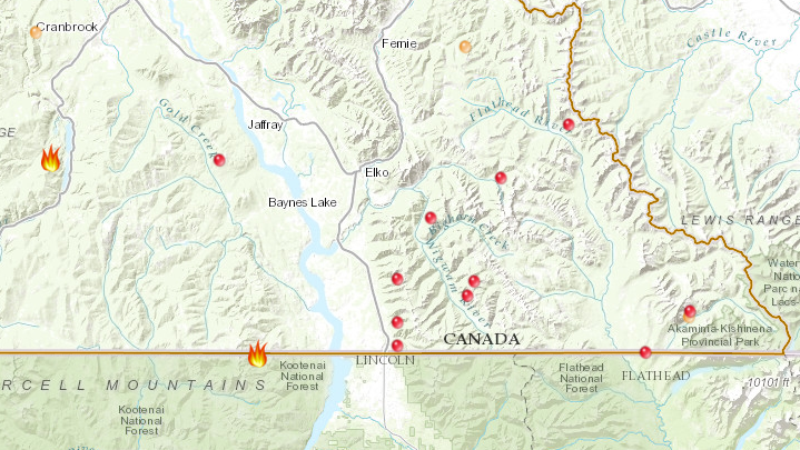 More than 10 fire starts in 24 hours in East Kootenay