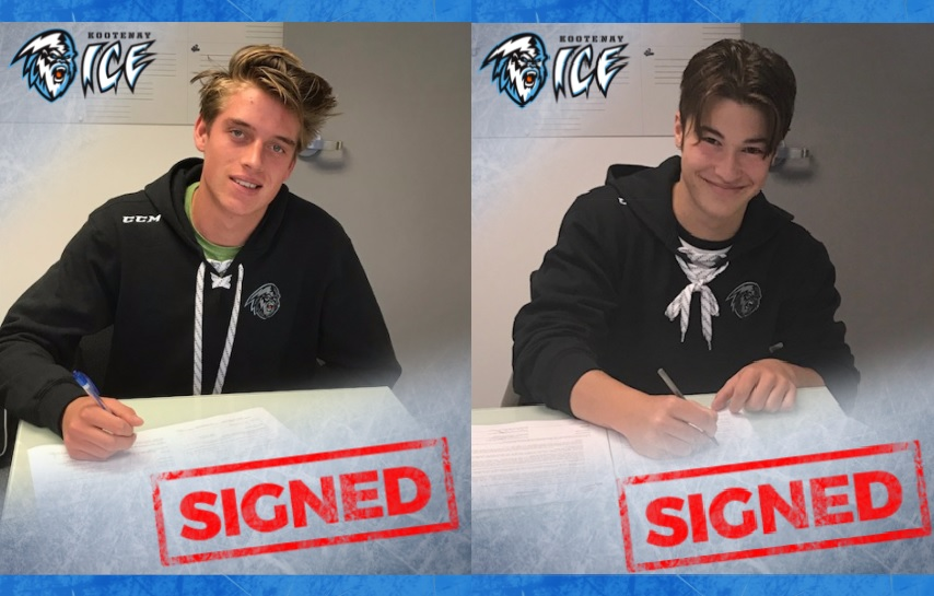 WHL: Kootenay ICE sign two 16-year old talents