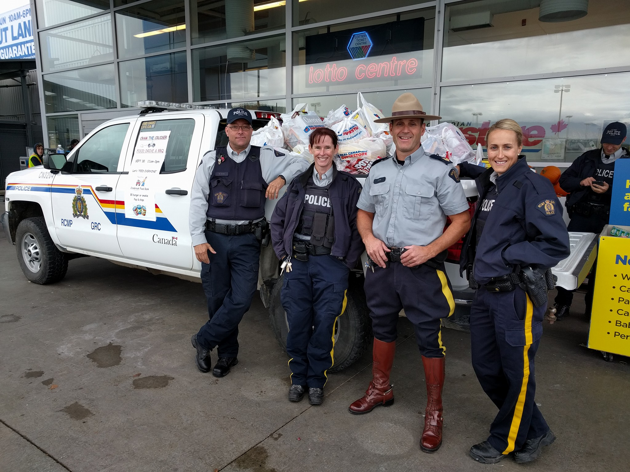 Cranbrook RCMP Cram the Cruiser event surpasses all expectations