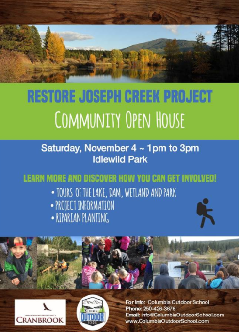 Open House planned in Cranbrook for Joseph Creek restoration project