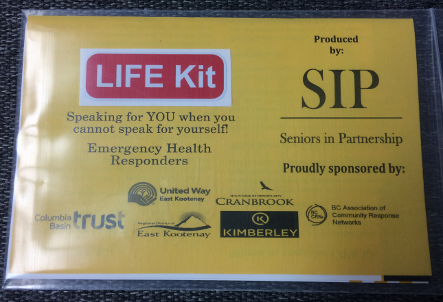 Cranbrook Fire now carrying Seniors in Partnership Life Kits