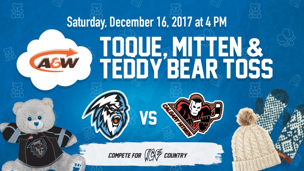 Kootenay ICE announce Teddy Bear Toss Dec. 16 vs. Calgary