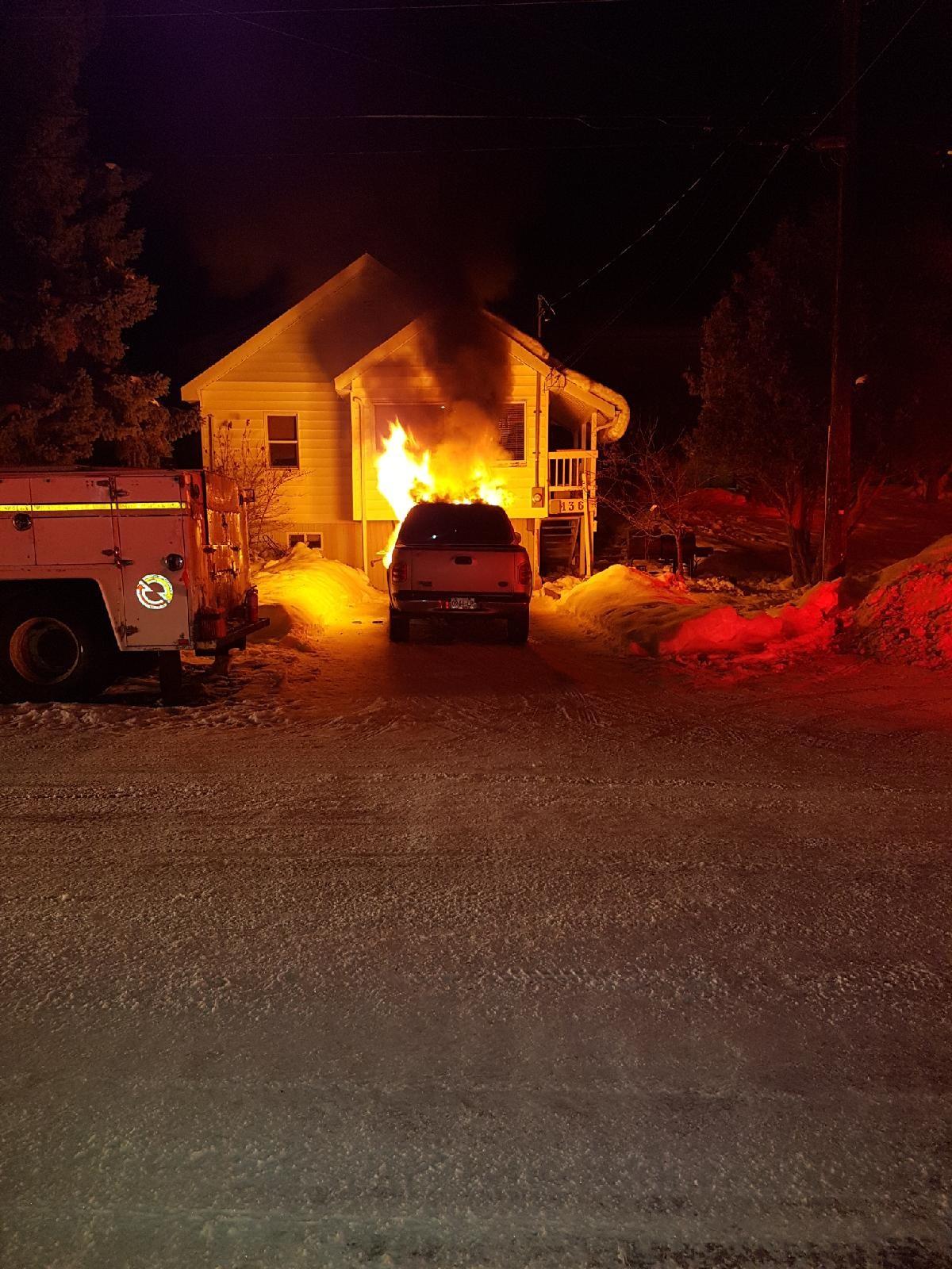 Early morning fire destroys truck in Kimberley