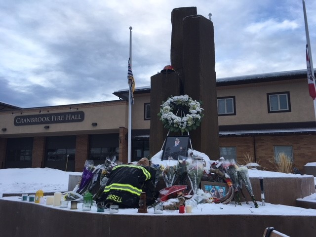 Memorial grows in front of Cranbrook firehall