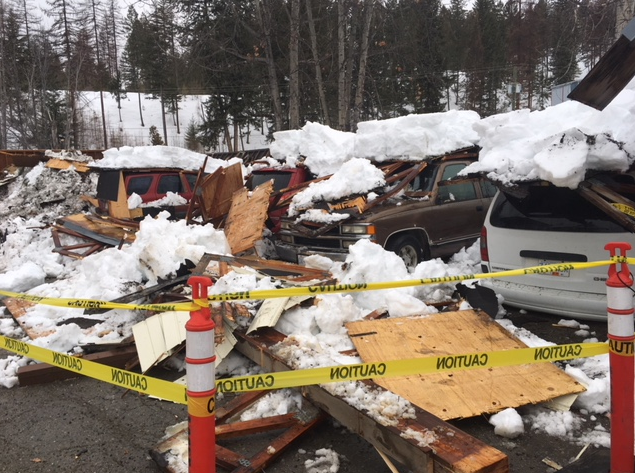 Snow may cause more structure collapses: Kimberley Fire