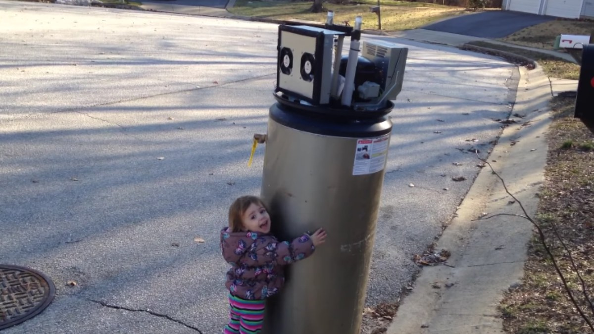 WATCH: Little Girl Mistakes Water Heater For Robot
