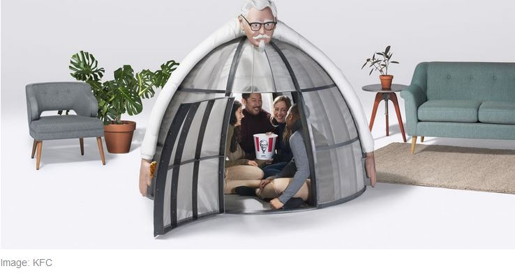 KFC Tent Helps You Hide From the Internet