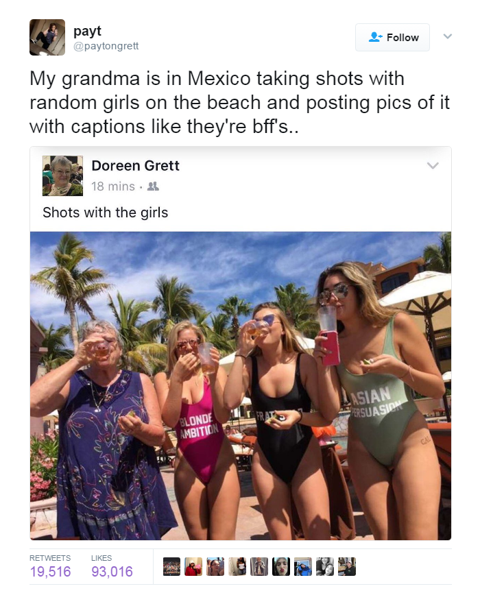 This Grandma knows how to Spring Break