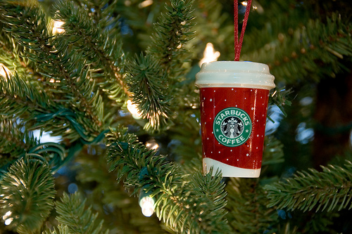 Starbuck's Christmas Tree in a Cup is here NOW!!!