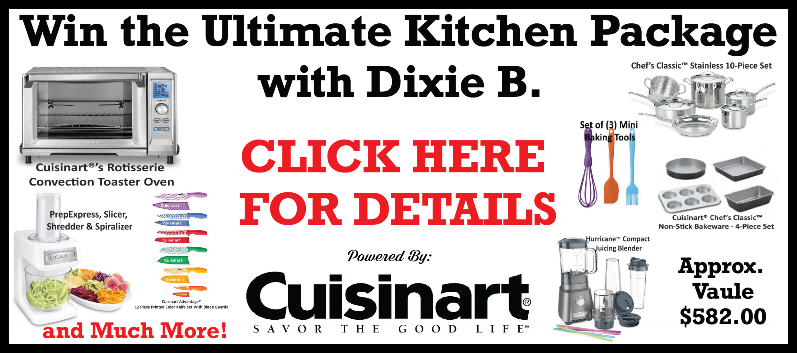 Feature: http://www.1100knzz.com/win-the-ultimate-kitchen-package-with-dixie-b-powered-by-cuisinart/