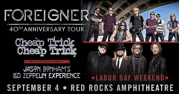 Foreigner turn 40! Get Your Tickets!