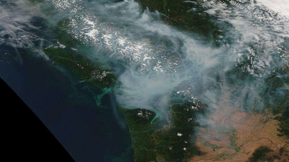 Smokey haze lingers over Vancouver Island