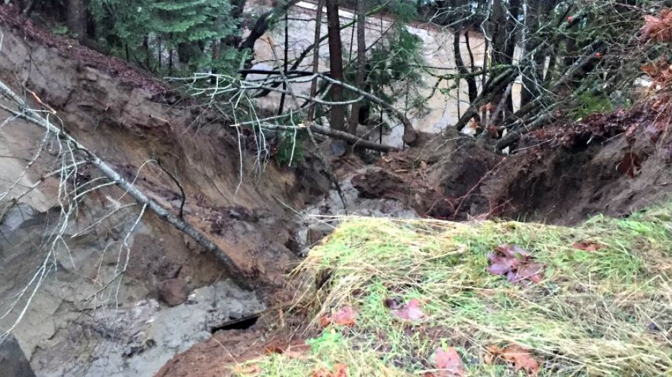 Woman rescued from Lantzville mudslide, multiple road closures due to flooding