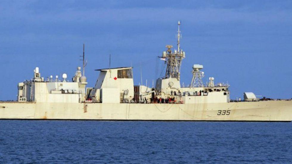 Navy ship spills 30,000 litres of fuel east of Nanoose Bay