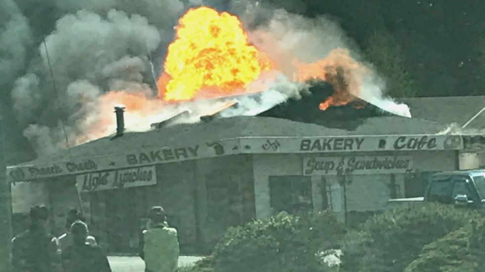 'It literally moved my truck': witness reports explosion, fire in French Creek