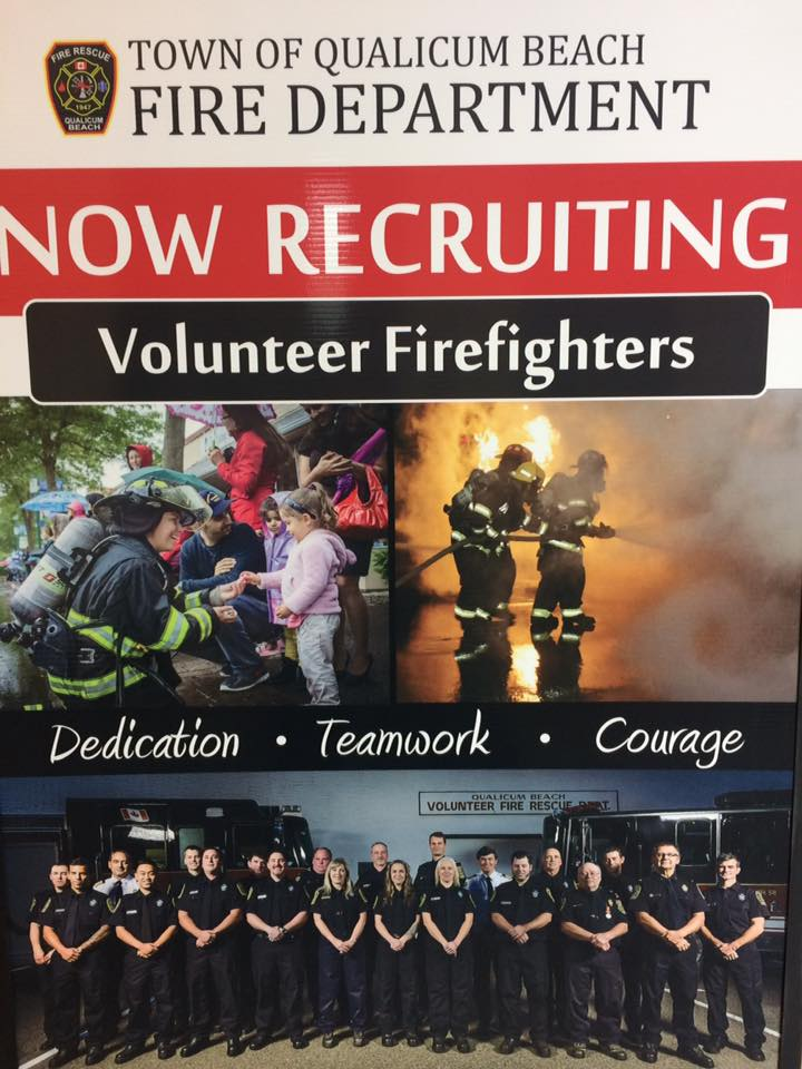 Qualicum Beach Fire Department looking for volunteers