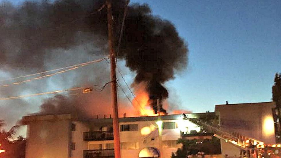 Massive effort underway to shelter apartment tenants after major fire in Parksville