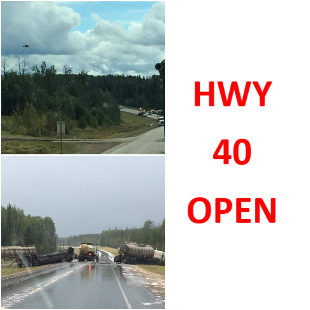 Both sections of Highway 40 reopened after separate collisions