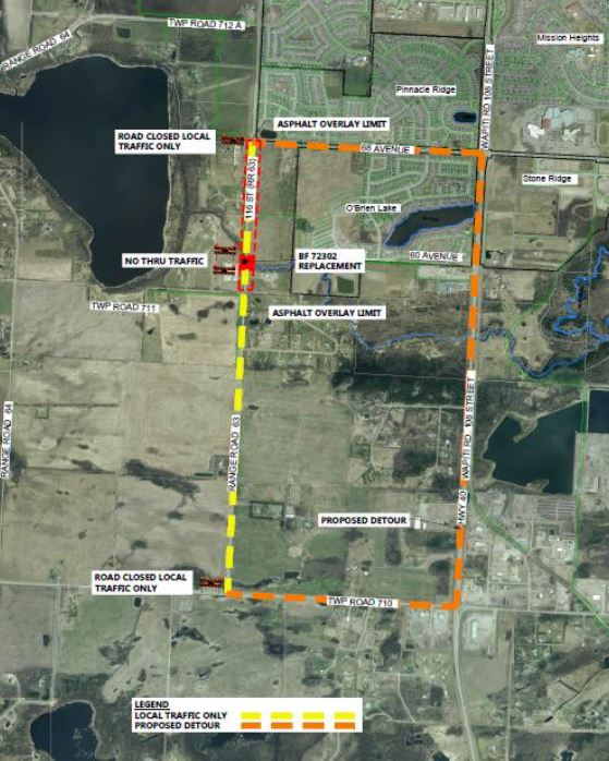 Road work along 116 Street delayed