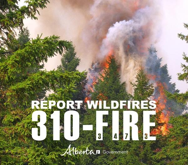 Wildfire Hazard bumped to 'very high' for long weekend