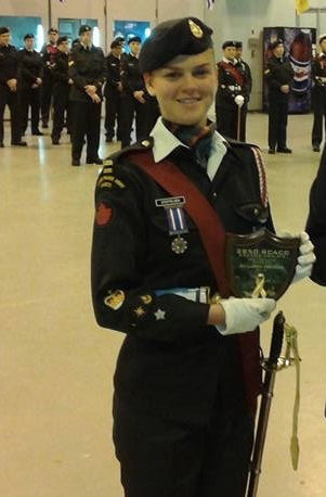 Top army cadet being saluted tonight in Grande Prairie