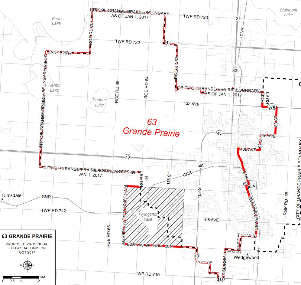 Final Electoral Boundaries Commission Report recommends Grande Prairie constituency