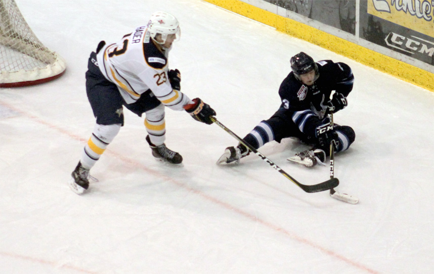 Grande Prairie Storm soars over the Eagles at Revolution Place
