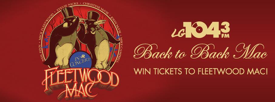 Back to Back Mac – Win Tickets to Fleetwood Mac!