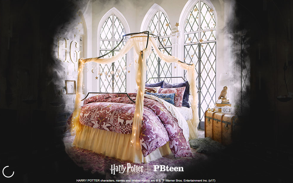 pottery barn s new harry potter collection z95 3 vancouver 39 s best mix. Black Bedroom Furniture Sets. Home Design Ideas