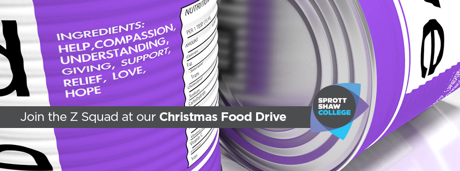 Sprott Shaw College Christmas Food Drive