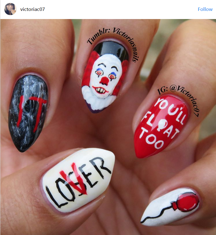 'IT' NAILS ARE TAKING OVER...AND THEY'RE FREAKY!