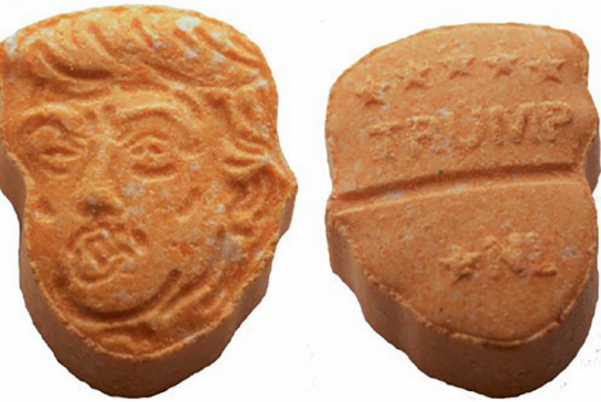 POLICE IN GERMANY SEIZE ECSTASY TABLETS SHAPED LIKE DONALD TRUMP'S HEAD