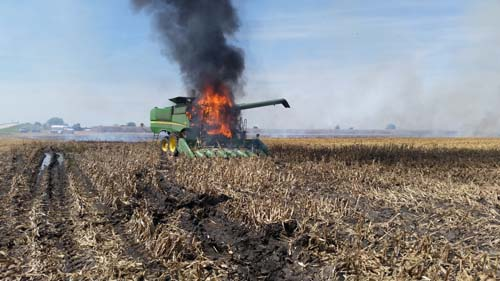 CONCERNS ABOUT HARVEST RELATED FIRES IN SOUTHERN ALBERTA